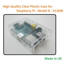 Imported Clear Plastic case for Raspberry Pi model B