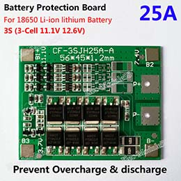 3S 25A Li-ion Lithium Battery 18650 Charger PCB BMS Protection Board 12.6V Cell  in chennai