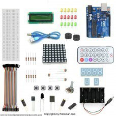 ARDUINO UNO R3+1602 LCD STARTER KIT WITH 17 BASIC ARDUINO PROJECTS