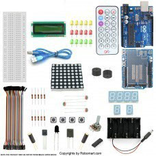 ARDUINO UNO R3+PROTOTYPE SHIELD STARTER KIT WITH 17 BASIC ARDUINO PROJECTS