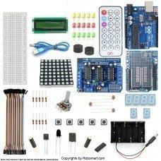ARDUINO UNO R3+L293D MOTOR DRIVE SHIELD STARTER KIT WITH BASIC ARDUINO PROJECTS