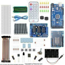 MEGA 2560 R3+L239D MOTOR DRIVE SHIELD STARTER KIT WITH BASIC ARDUINO PROJECTS
