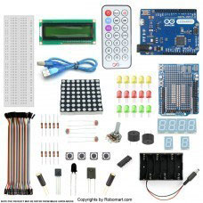 Leonardo R3 1602 Lcd Starter Kit With 17 Basic Arduino Project