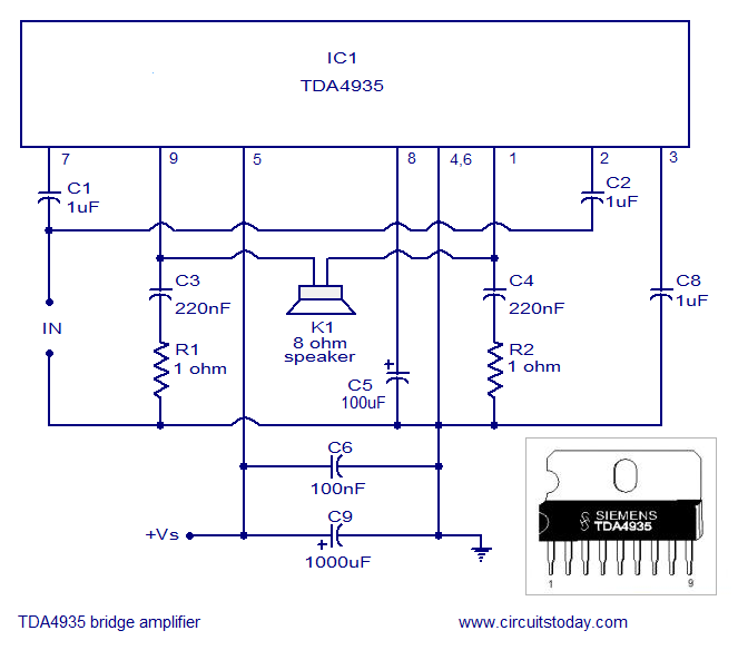 stereo amplifier circuit BA5417