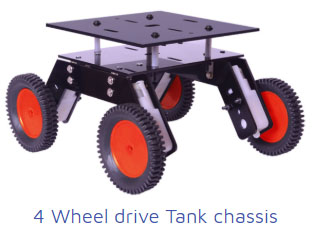 4 wheel drive tank chasis Project Kit