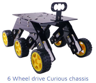 6 wheel drive curious chassis Project Kit