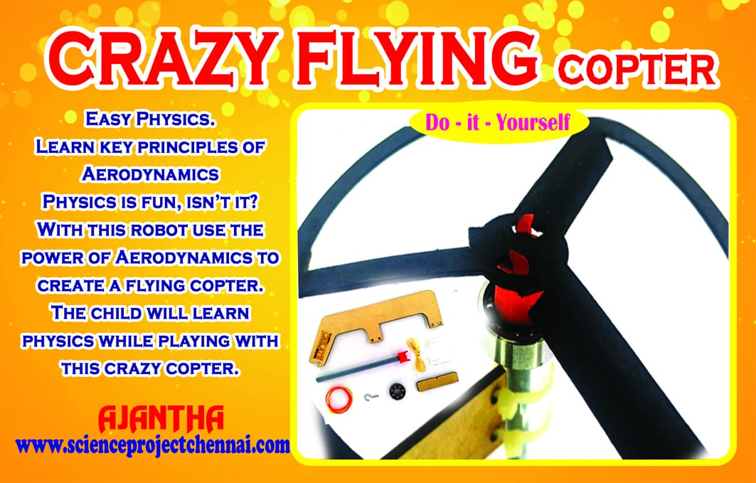 crazy flying copter Project Kit