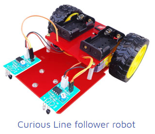 curious line follower robot Project Kit