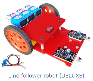 line follower robot deluxe Project Kit