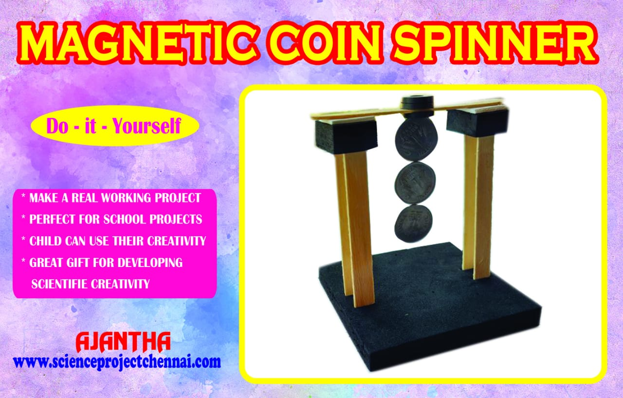 magnetic coin spinner Project Kit