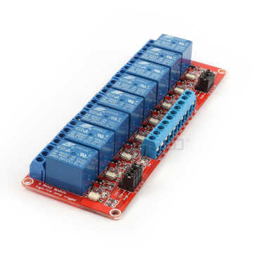 8 x DC 24V Opto Isolated High/Low Level Triggering Relay Module